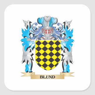 Blund Coat of Arms Square Sticker