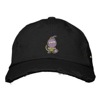 Blurple Distressed Chino Twill Cap Embroidered Hats