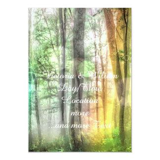 Blurred forest 13 cm x 18 cm invitation card