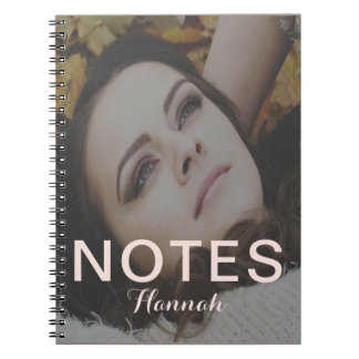 Blush Add Name Notes Photo Notebook