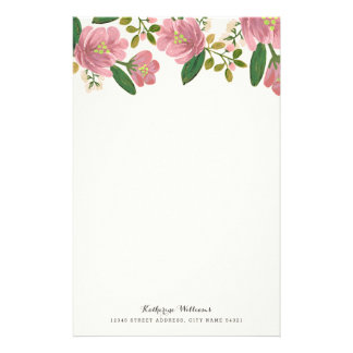 Blush Bouquet Personalized Stationery