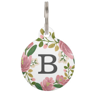 Blush Bouquet Pet Name Tag
