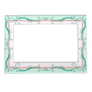 Blush Peach & Mint  Magnetic Frame