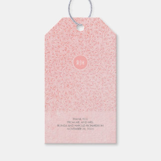 Blush Pink Floral Vintage Monogram Wedding