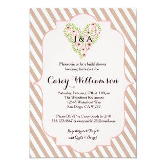 Blush Pink Kraft Paper Bridal Shower invitation