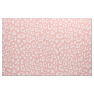 Blush Pink Leopard Print Fabric