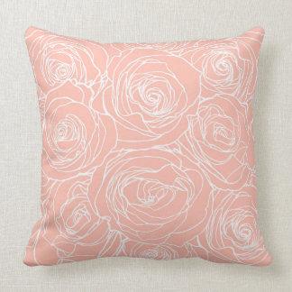 Blush Pink Roses Pillow