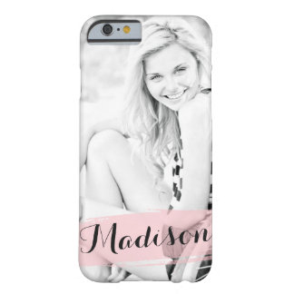Blush Pink Watercolor Custom Photo Personalized Barely There iPhone 6 Case