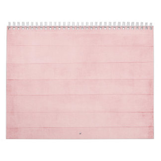 Blush Pink Watercolor Texture Look Girly Pastel Calendars