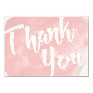 Blush Pink Watercolor Thank You Card