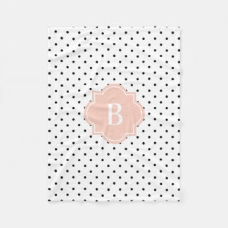 Blush Swiss Dots | Monogram Fleece Blanket