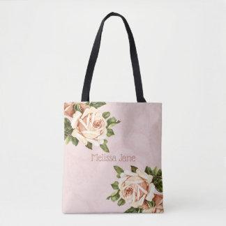 Blush Vintage Rose Maid of Honor Tote Bag