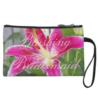 Blushing Bridesmaid Bag Wristlet Clutch