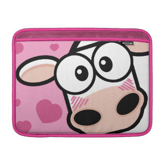 Blushing Cow & Love Hearts Sleeve For MacBook Air