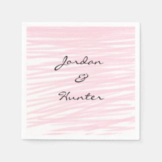 """Blushing Pink"" Paper Napkins Disposable Serviette"