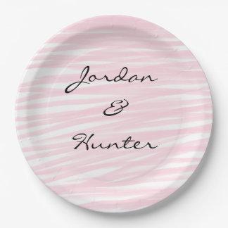 """""""Blushing Pink"""" Paper Plates"""