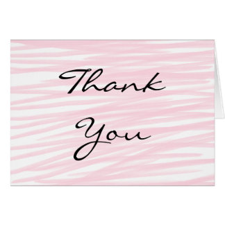 """""""Blushing Pink"""" Thank You Cards"""