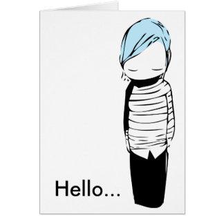 Bluu Hello... Card
