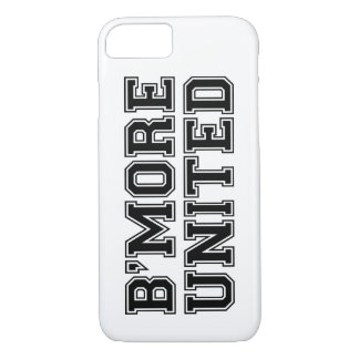 B'MORE UNITED Baltimore - Black Text (Customize) iPhone 8/7 Case