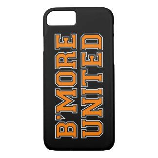 B'MORE UNITED Baltimore - Orange Text (Customize) iPhone 7 Case