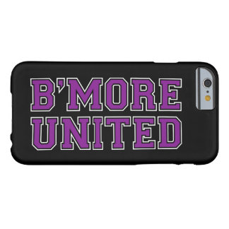 B'MORE UNITED Baltimore - Purple Text (Customize) Barely There iPhone 6 Case