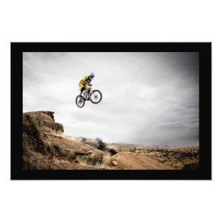BMX Biker Jumping Poster
