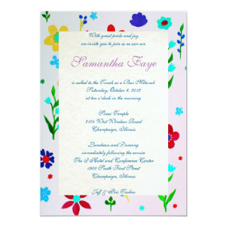 B'NOT B'NAI BAR BAT MITZVAH INVITATION