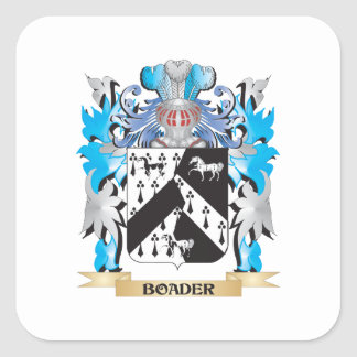 Boader Coat of Arms Square Stickers