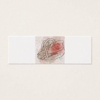 Boar skull watercolour red/green mini business card