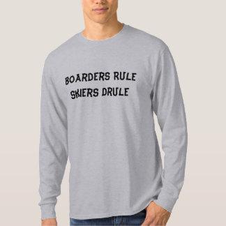 Boarders Rule   Skiers Drule T-Shirt