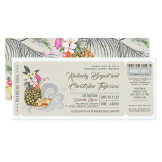 Boarding Pass | Pineapple | Beach Rehearsal Dinner Card