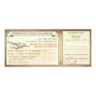 boarding pass tickets -vintage wedding invitations