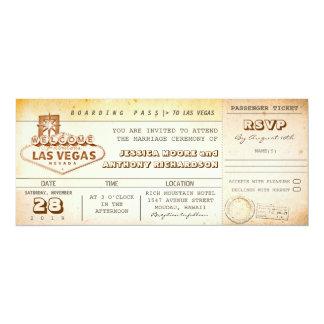 boarding pass wedding tickets-invitation LAS VEGAS Card