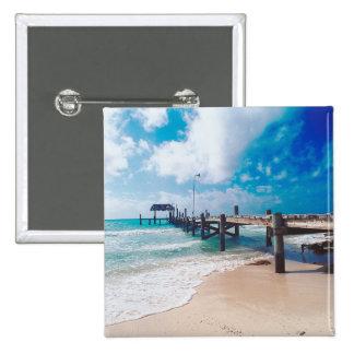 Boardwalk By The Sea 15 Cm Square Badge