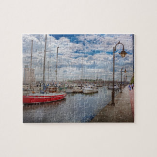 Boat - Baltimore, MD - One fine day in Baltimore Jigsaw Puzzle