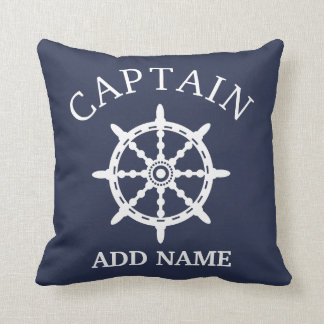 Boat Captain (Personalise Captain's Name) Cushion