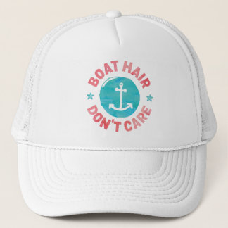 """Boat Hair Don't Care"" Trucker Hat"