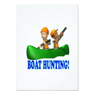 Boat Hunting 13 Cm X 18 Cm Invitation Card