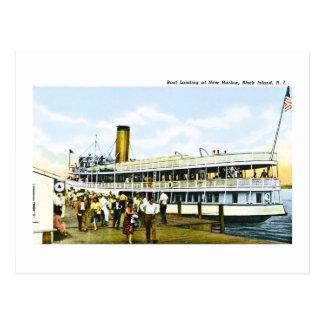 Boat Landing at New Harbor, Block Island, R.I. Postcard