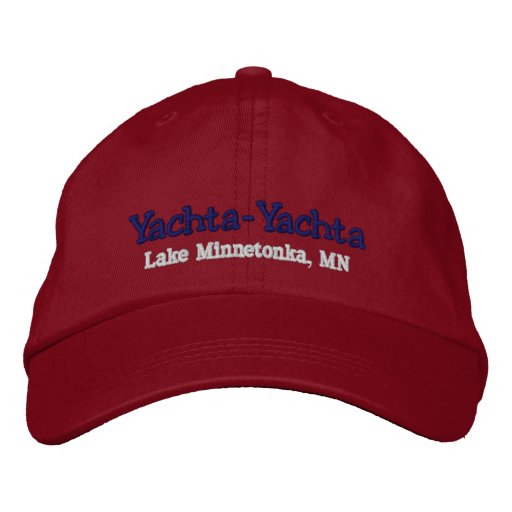 Boating Hat - Personalise with boat name Embroidered Baseball Cap