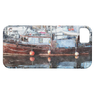 Boating Marina Watercolor Art iPhone 5 Cover