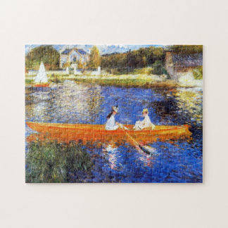 Boating on the Seine River Renoir Fine Art Jigsaw Puzzle