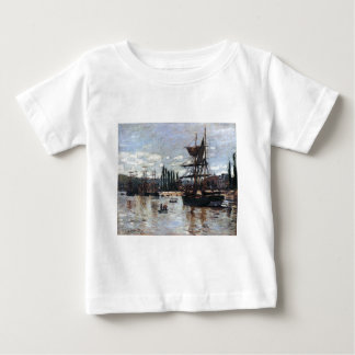 Boats at Rouen by Claude Monet Baby T-Shirt