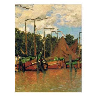Boats at Zaandam by Claude Monet Postcard
