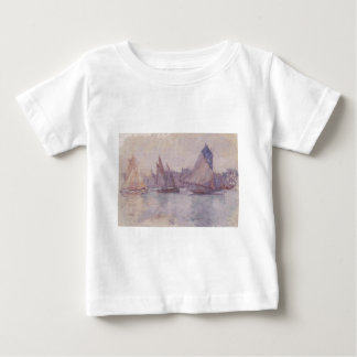 Boats in the Port of Le Havre by Claude Monet Baby T-Shirt