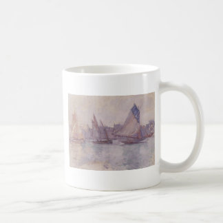 Boats in the Port of Le Havre by Claude Monet Coffee Mug