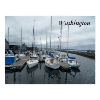 Boats in Washington State Postcard
