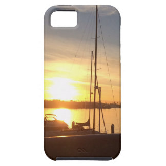 Boats on Marina at Sunset Tough iPhone 5 Case