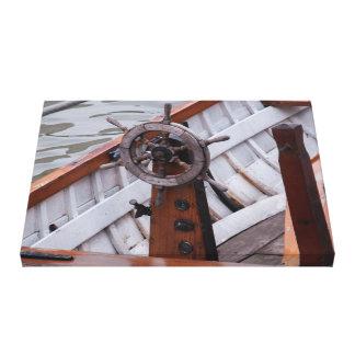Boats wheel canvas print
