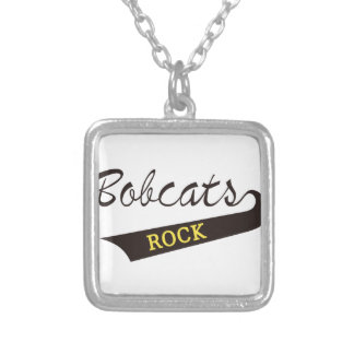Bobcats Rock Square Pendant Necklace